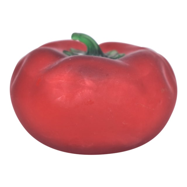 1980s Vintage Hand Blown Tomato For Sale