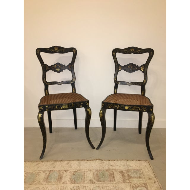 Pair of French Chinoisere Chairs For Sale - Image 10 of 10