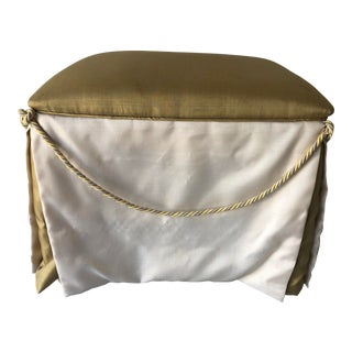 French Provençal Style Ottoman Satin/Braids For Sale