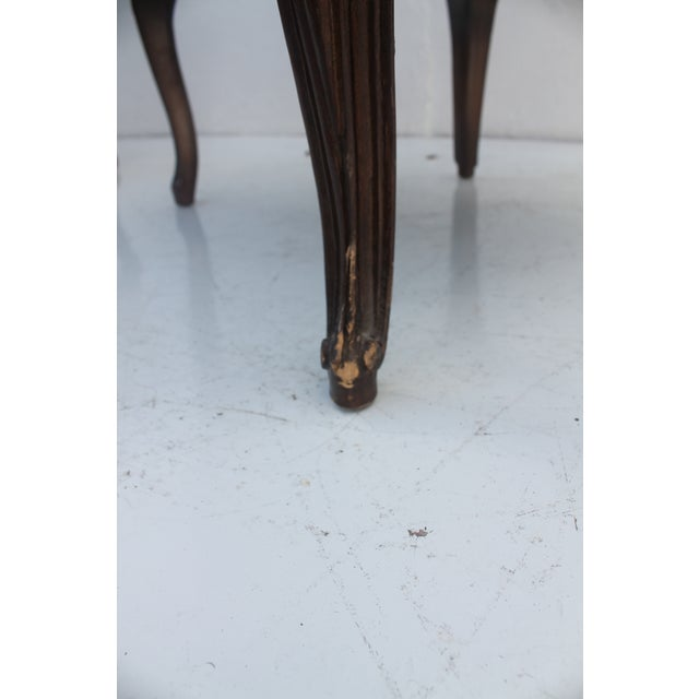 French Provincial Carved Wood Arm Chairs - A Pair - Image 9 of 11