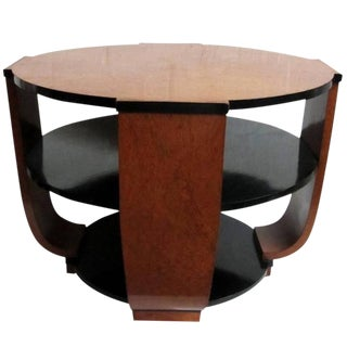 French Art Deco Burlwood Coffee or Centre Table For Sale