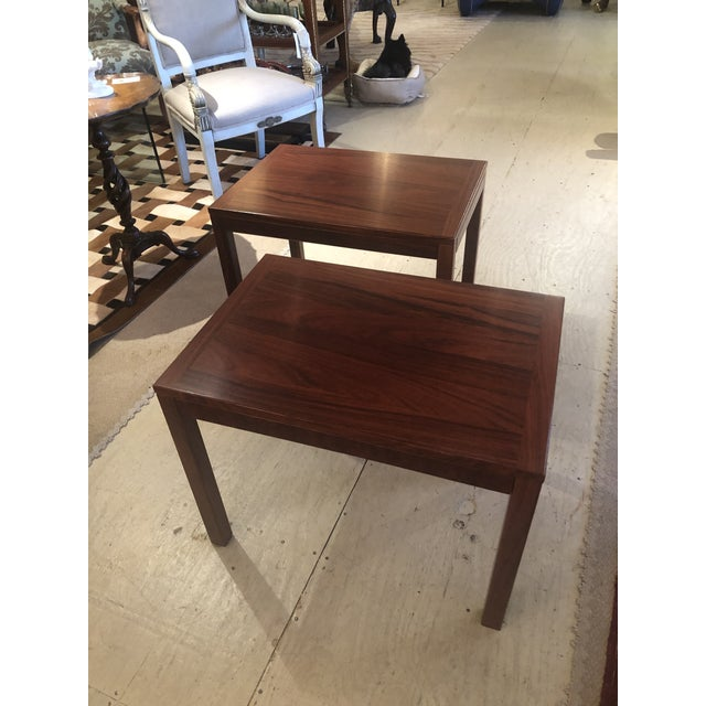 Mobelfabrick Danish Mid Century Modern Richly Grained End Tables - a Pair For Sale - Image 13 of 13