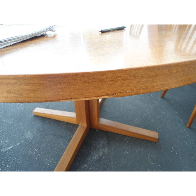 Danish Modern Heltborg Mobler Extendable Dining Table - Image 11 of 11
