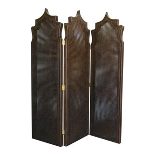 Morrocan Style Caning Screen For Sale