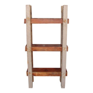 Custom Rustic Wooden Bookcase For Sale