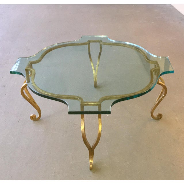 1960s Mid Century Coffee Table Hollywood Regency For Sale - Image 5 of 6