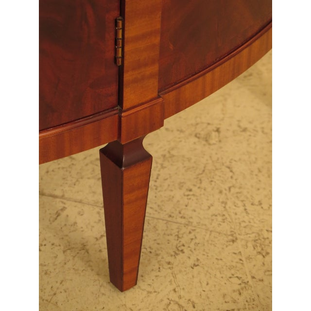 Baker Furniture Company 1990s Baker Historic Charleston 1/2 Round Mahogany Commode Server For Sale - Image 4 of 13