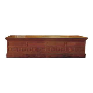 Late 19th Century Traditional Oak Store Counter With Raised Panels For Sale