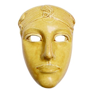 La Hantise Stoneware Mask by Ringel Dillzach For Sale