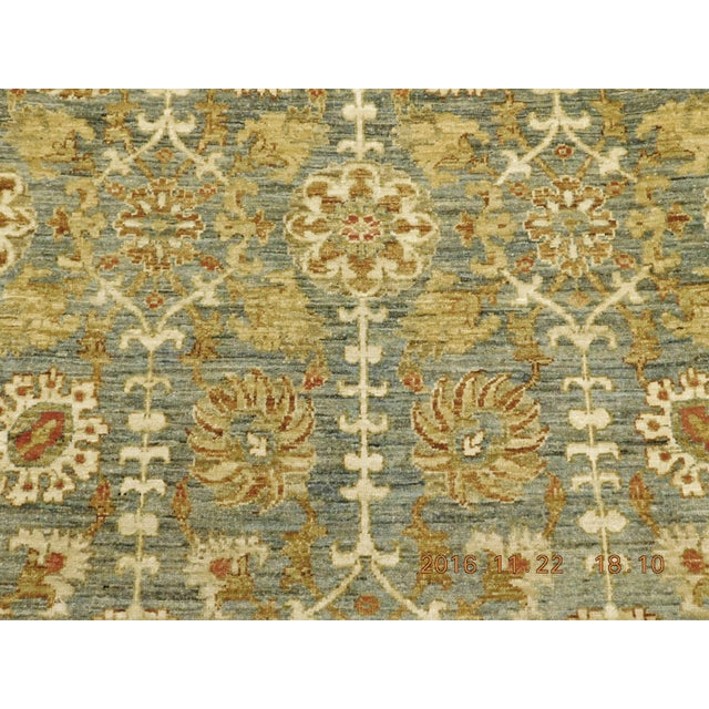 Hand Knotted Green and Yellow Afghan Rug - 6'x 9' For Sale - Image 4 of 10