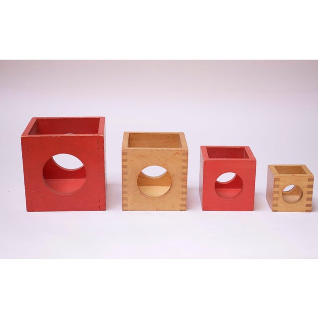 Wood Set of Four Vintage Nesting Cubes by Creative Playthings of Finland For Sale - Image 7 of 13