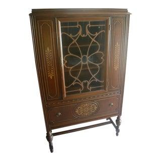 Vintage 1940's Single Hutch Cabinet For Sale