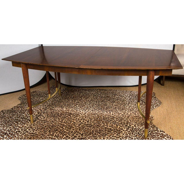 Sophisticated Bert England For Johnson Furniture Walnut Dining Table - Dining table with 3 leaves