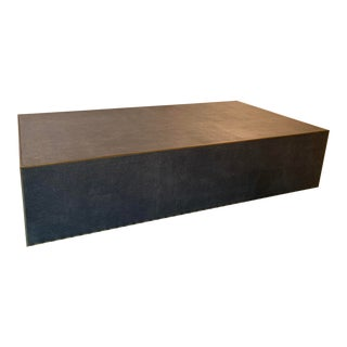 Restoration Hardware Shagreen Plinth Coffee Table For Sale