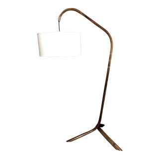 Modern Daniel Oates Steambent Walnut Floor Lamp For Sale