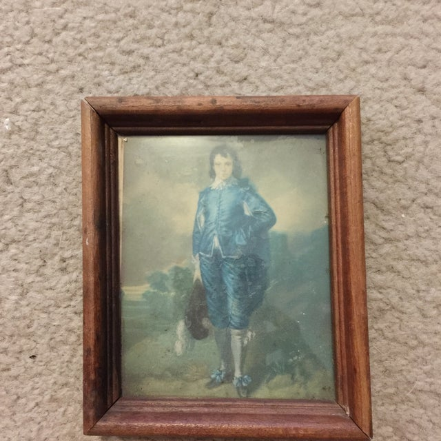 """""""Boy in Blue"""" Antique Painting - Image 2 of 5"""
