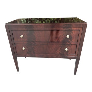 Thomas O'Brien for Hickory Chair Co. Mahogany Two Drawer Hall Chest For Sale