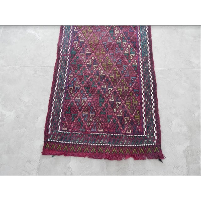 Handwoven Turkish Kilim Rug Pastel Colors Area Rug Petite Braided Kilim For Sale In Dallas - Image 6 of 8