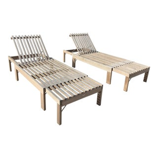 Scandinavian Teak Chaise Lounge by Skagerak - a Pair For Sale