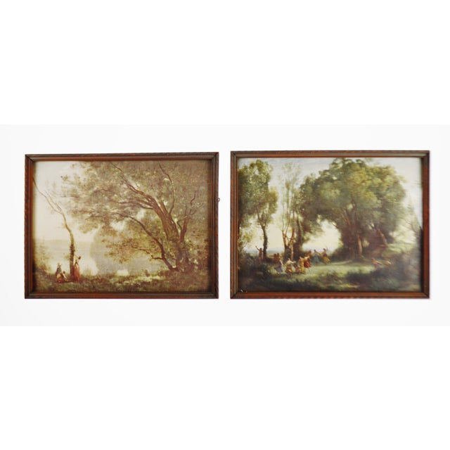 Pair of Early Jean Baptiste Camille Corot Framed Prints Condition consistent with age and history. Please use zoom feature...