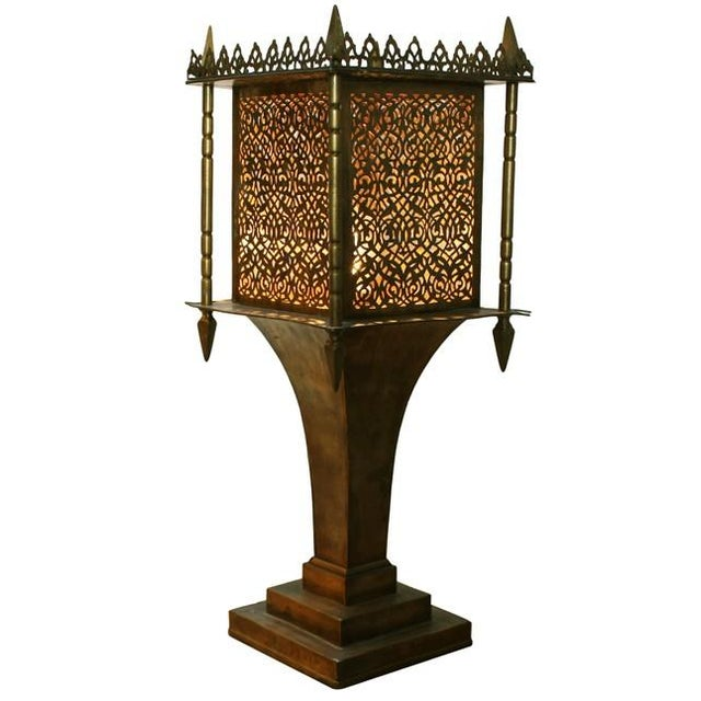 Brass Moroccan Style Lantern - Image 1 of 4