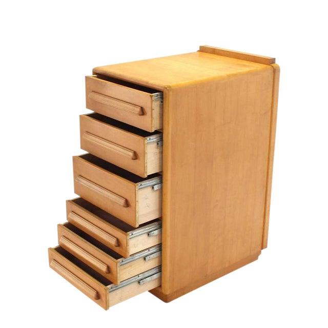 Deep Drawers Heavily Custom Built File Cabinet For Sale