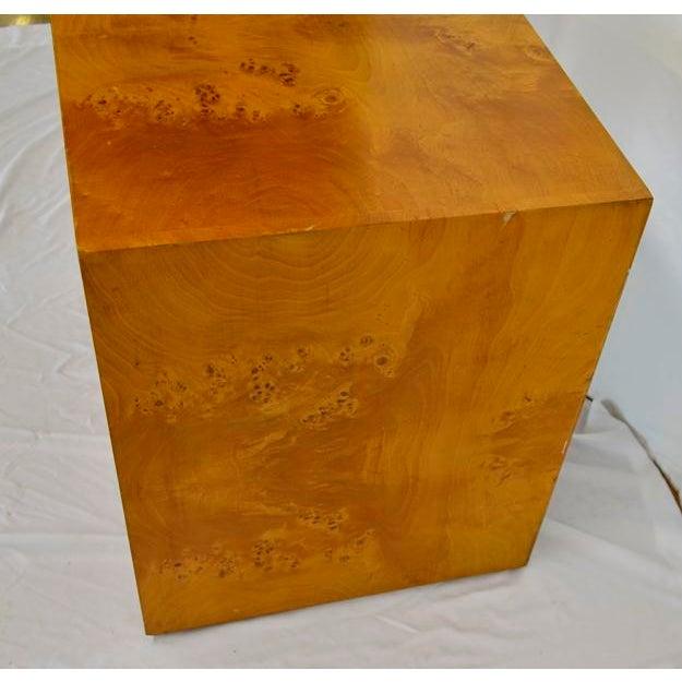1960s 1960s Mid Century Modern Olive Burlwood Side Table For Sale - Image 5 of 8