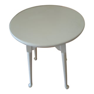 Art Nouveau White Painted Maple Side Table For Sale