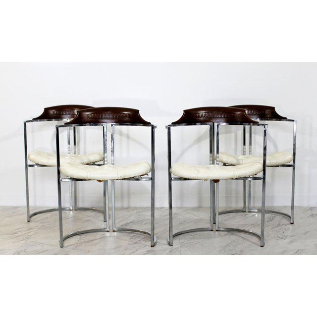 Animal Skin 1970s Mid-Century Modern Daystrom Chrome Wood Laminate Dinette Set For Sale - Image 7 of 13
