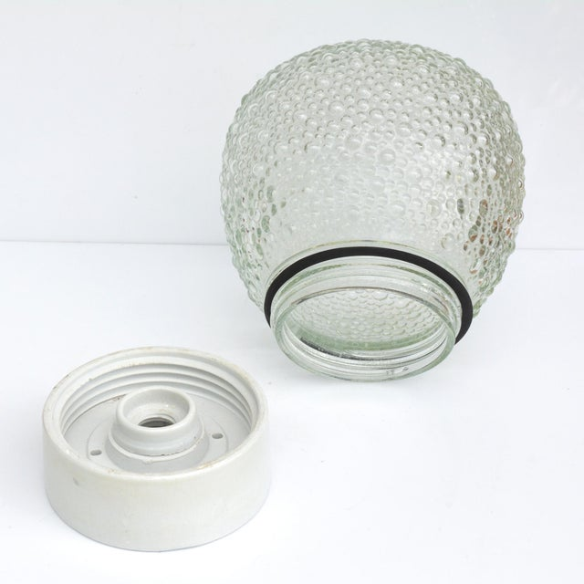 1970s Large Glass Outdoor Wall Lamp, Germany For Sale - Image 9 of 13