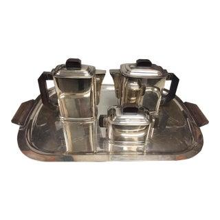 Art Deco Silver Plate Tea/Coffee Service From Paris - 4 Piece Set For Sale