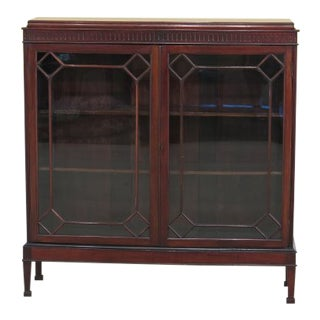 Vintage 1930's Era 2 Door Mahogany Bookcase