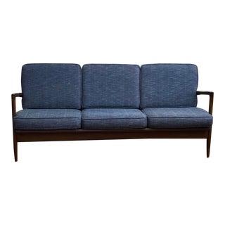 Mid Century Danish Modern 3 Cushion Sofa For Sale