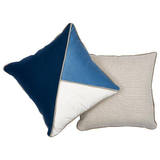Modern Schumacher Gainsborough Velvet Pillow For Sale - Image 3 of 5