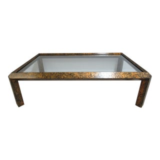 Vintage Mid-Century Faux Tortoise Shell Regency Coffee Table For Sale