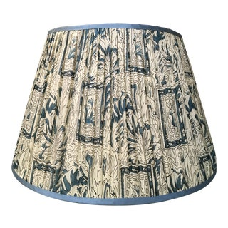 Penny Morrison Teal and Cream Lamp Shade For Sale