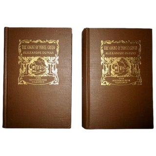 1894 First Edition Count of Monte Cristo Books - 2 Volume Set For Sale