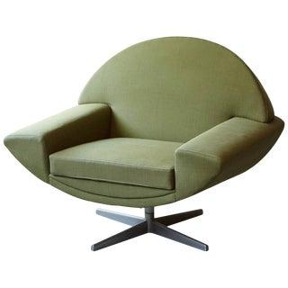 Johannes Andersen 'Capri' Green Swivel Lounge Chair for Trensums, Denmark, 1960s