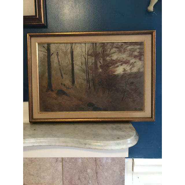 1910s 1910s Original Signed and Dated (1910) Oil Landscape Painting For Sale - Image 5 of 5
