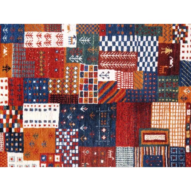 """Islamic Pasargad N Y Genuine Persian Gabbeh Wool Rug - 3′4″ × 4′11"""" For Sale - Image 3 of 4"""