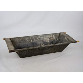 Vintage French Galvanized Metal Dough Bowl Preview