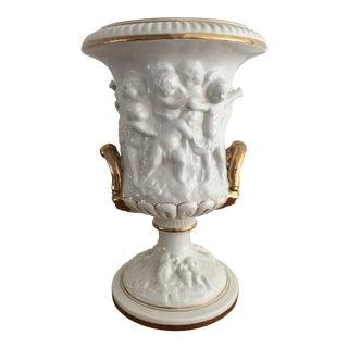 Vintage Italian Porcelain Angel Vase/ Urn For Sale