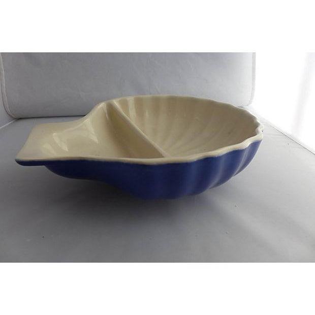 Vintage Nautical Porcelain Clamshell Serving Dish - Image 4 of 7