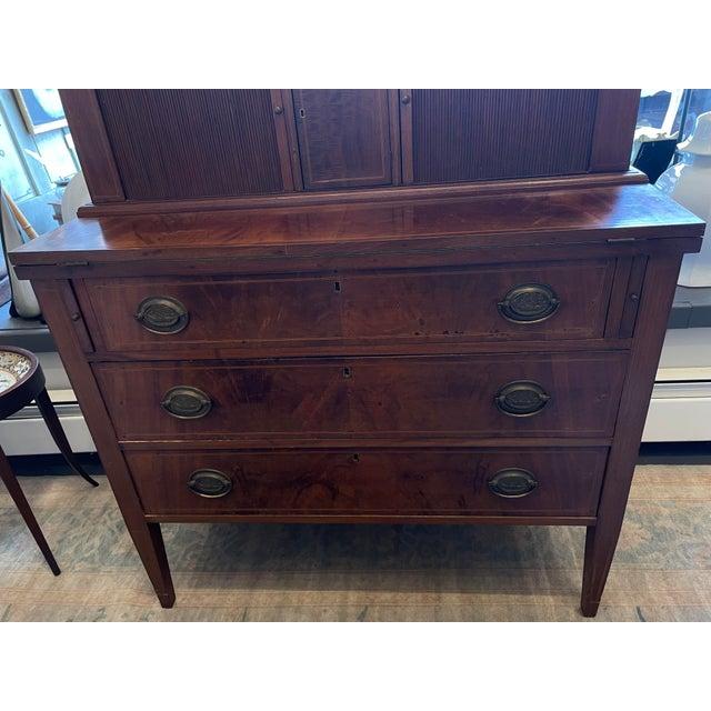 American 19th Century George Hepplewhite Tambour Desk For Sale - Image 3 of 13