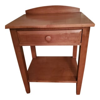Vintage Maple Nightstand For Sale