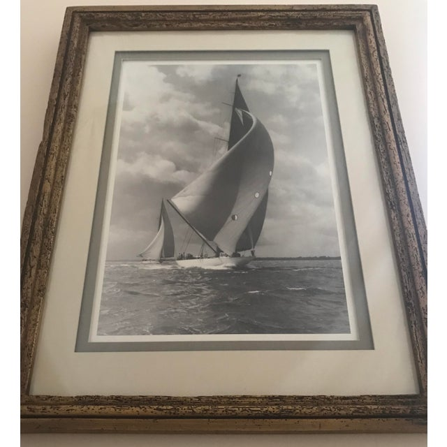 """Framed and Double Shadow Mount Matted """"Candida"""" Black & White Prints From 1923 & The """"Velsheda"""" From 1943 - a Pair For Sale - Image 11 of 13"""