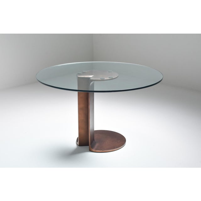 1970s 1970s Afra & Tobia Scarpa Bronze Table Tl59 For Sale - Image 5 of 13