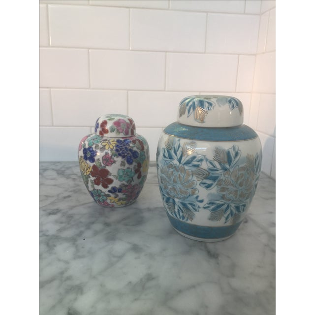 Vintage Japanese Ginger Jars - Pair - Image 2 of 11
