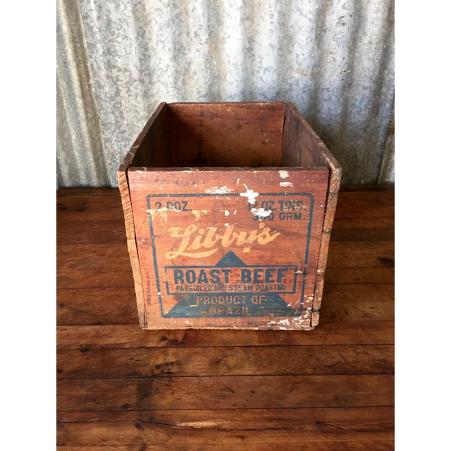 Vintage Libby's Roast Beef Wood Crate - Image 6 of 10
