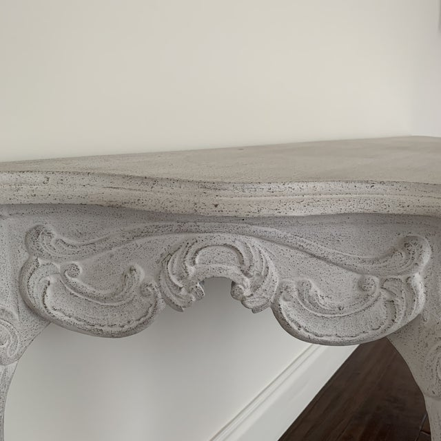 White Wash Console Table For Sale In Los Angeles - Image 6 of 9
